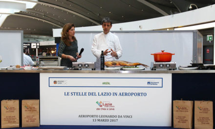 Un cooking show all'aeroporto di Fiumicino