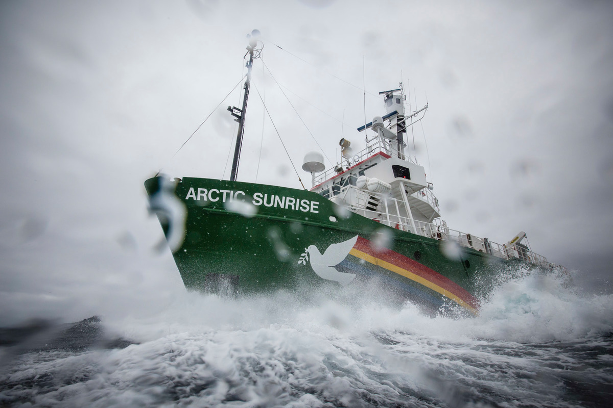 Arctic Sunrise Protests in the Barents Sea