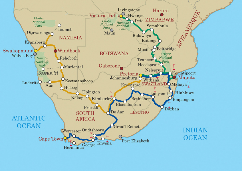 Shongololo Map All Routes LR